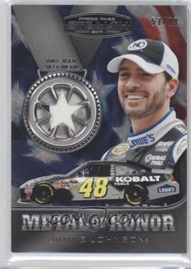 2011 Press Pass Stealth Metal of Honor Sheet Metal Silver Star #MH-JJ - Jimmie Johnson /99
