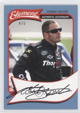 2011 Wheels Element - Autographs - Platinum #JOSA - Johnny Sauter /5