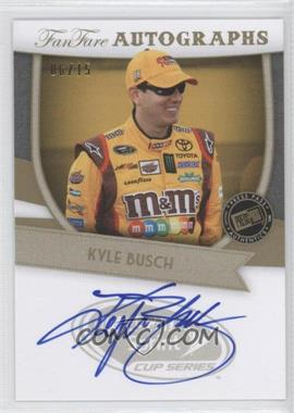 2012 Press Pass Fanfare Autographs Gold #FF-KYB1 - Kyle Busch /15