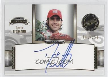 2012 Press Pass Legends - Autographs - Gold #LG-DF - Dario Franchitti /150