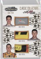 Joey Logano, Denny Hamlin, Kyle Busch /50