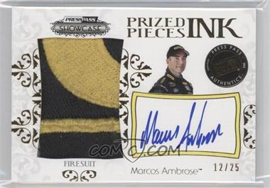 2012 Press Pass Showcase Prized Pieces Ink Memorabilia Gold #PPI-MA - Marcos Ambrose /25