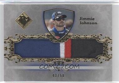 2012 Press Pass Total Memorabilia Jumbo Swatch Gold #TM-JJ - Jimmie Johnson /50