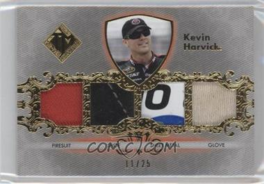 2012 Press Pass Total Memorabilia Quad Swatch Gold #TM-kh - Kevin Harvick /25