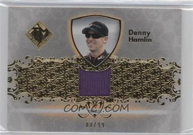 2012 Press Pass Total Memorabilia Single Swatch Gold #TM-DH - Denny Hamlin /99