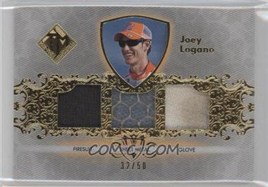2012 Press Pass Total Memorabilia Triple Swatch Gold #TM-JL - Joey Logano /50