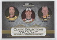 Paul Menard, Kevin Harvick, Jeff Burton /99