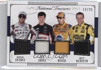 Daniel Suarez, Erik Jones, Kyle Busch, Matt Kenseth /25