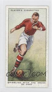 1934 Player's Hints on Association Football - Tobacco [Base] #19 - Dribbling with the Inside of Foot [GoodtoVG‑EX]