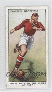 1934 Player's Hints on Association Football Tobacco [Base] #19 - Dribbling with the Inside of Foot [Good to VG‑EX]
