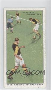 1934 Player's Hints on Association Football Tobacco [Base] #40 - Back Passing to Half-Back