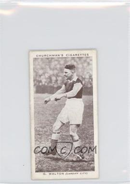 1939 Churchman's Association Footballers Series 2 - Tobacco [Base] #49 - G. Walton [GoodtoVG‑EX]