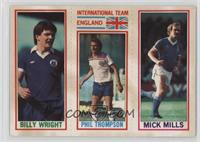 Billy Wright, Phil Thompson, Mick Mills