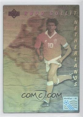 1993 Upper Deck World Cup 94 Preview English/Spanish - World Star Holograms #RUGU - Ruud Gullit