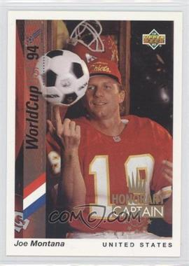 1993 Upper Deck World Cup 94 Preview English/Spanish Honorary Captain #HC2 - Joe Montana