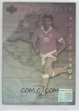 1993 Upper Deck World Cup 94 Preview English/Spanish World Star Holograms #RUGU - Ruud Gullit