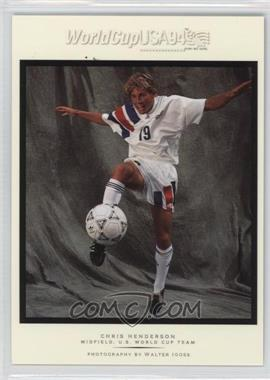 1994 Upper Deck World Cup English/Spanish - Walter Ioss Portraits #WI3 - Chris Henderson