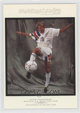 1994 Upper Deck World Cup English/Spanish Walter Ioss Portraits #WI13 - Chris Henderson