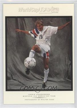 1994 Upper Deck World Cup English/Spanish Walter Ioss Portraits #WI13 - Chris Henderson