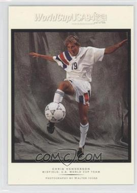1994 Upper Deck World Cup English/Spanish Walter Ioss Portraits #WI3 - Chris Henderson