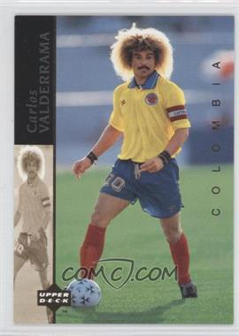 1994 Upper Deck World Cup English/Spanish World Cup Superstars #4 - Carlos Valderrama