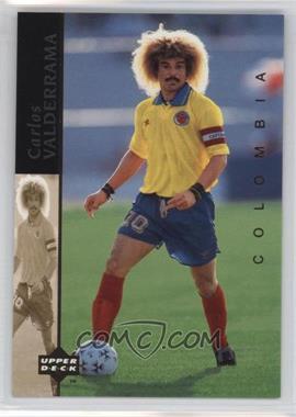 1994 Upper Deck World Cup English/Spanish World Cup Superstars #4 - Carlos Valderrama