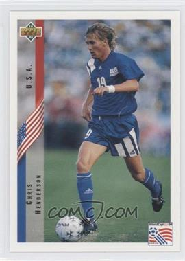 1994 Upper Deck World Cup English/Spanish #12 - Chris Henderson