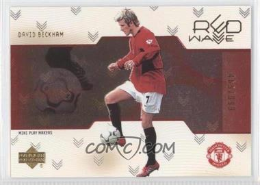 2003 Upper Deck Manchester United Mini Play Makers Red Wave Gold #RW7 - David Beckham /999