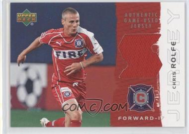 2006 Upper Deck MLS Jerseys #JE-CH - Chris Rolfe