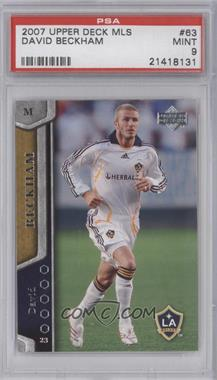 2007 Upper Deck MLS - [Base] #63 - David Beckham [PSA 9]