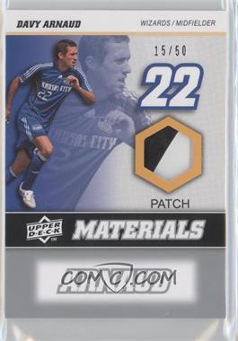 2008 Upper Deck MLS MLS Materials Patch #MM-6 - Davy Arnaud /50