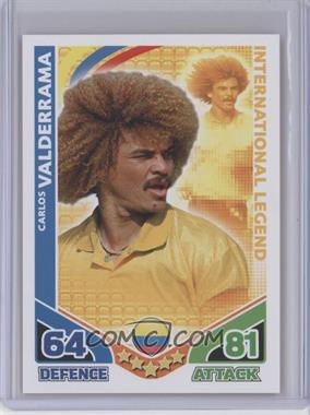 2010 Topps Match Attax International Legends [???] #N/A - Carlos Valderrama