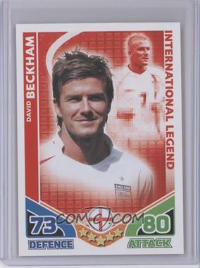2010 Topps Match Attax International Legends [???] #N/A - David Beckham