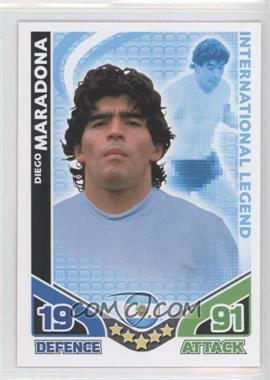 2010 Topps Match Attax International Legends #DIMA - International Legend - Diego Maradona