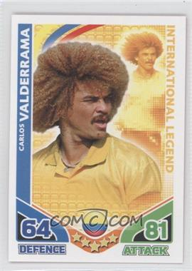 2010 Topps Match Attax South Africa World Cup UK Edition - International Legend #CAVA - Carlos Valderrama