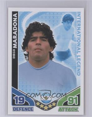 2010 Topps Match Attax South Africa World Cup UK Edition - International Legend #DIMA - Diego Maradona [Mint]