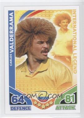 2010 Topps Match Attax South Africa World Cup UK Edition #CAVA - International Legend - Carlos Valderrama