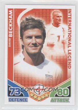 2010 Topps Match Attax South Africa World Cup UK Edition #DABE - International Legend - David Beckham