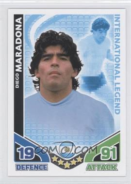 2010 Topps Match Attax South Africa World Cup UK Edition #DIMA - International Legend - Diego Maradona