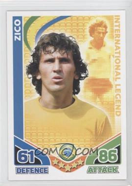 2010 Topps Match Attax South Africa World Cup UK Edition #ZICO - International Legend - Zico