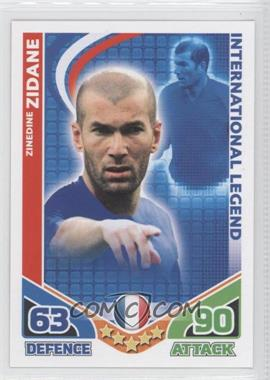 2010 Topps Match Attax South Africa World Cup UK Edition #ZIZI - International Legend - Zinedine Zidane