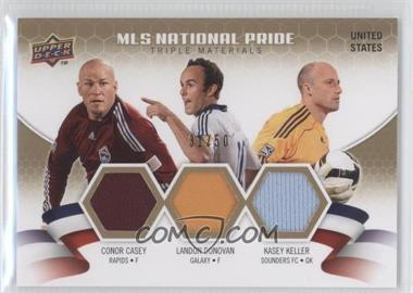 2010 Upper Deck MLS National Pride Triple Materials #NPM-CDK - Landon Donovan, Kasey Keller, Conor Casey /50