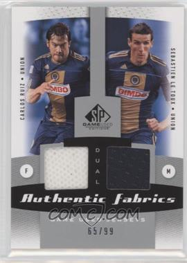 2011 SP Game Used Edition Authentic Fabrics Dual #AF2-PHI - Sebastien Le Toux, Carlos Ruiz /99