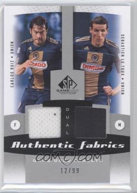 2011 SP Game Used Edition Authentic Fabrics Dual #AF2-PHI - Sebastien Le Toux, Carlos Ruiz /99