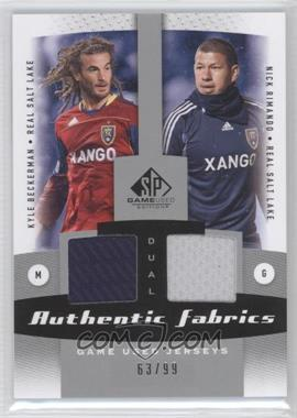2011 SP Game Used Edition Authentic Fabrics Dual #AF2-RSL - Nick Rimando, Kyle Beckerman /99