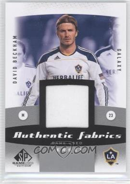2011 SP Game Used Edition Authentic Fabrics #AF-DB - David Beckham