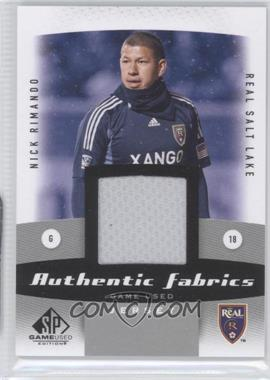 2011 SP Game Used Edition Authentic Fabrics #AF-NR - Nick Rimando