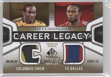 2011 SP Game Used Edition Career Legacy Dual Premium Series #CL2-JC - Jeff Cunningham /25