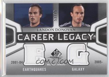 2011 SP Game Used Edition Career Legacy Duals #CL2-LD - Landon Donovan /75