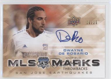 2012 Upper Deck MLS - Marks Throwbacks #TM-DD - Dwayne DeRosario /25